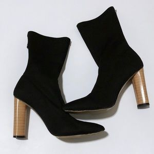 Black Sock Fit Ankle Boot